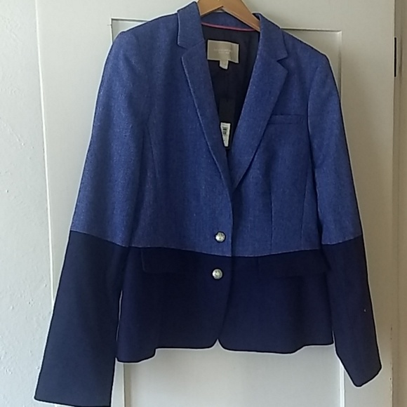 Banana Republic Jackets & Blazers - Blazer tailored-style blue Tweed lined